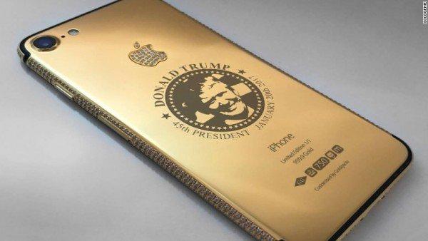 Diamond-Encrusted Donald Trump iPhone